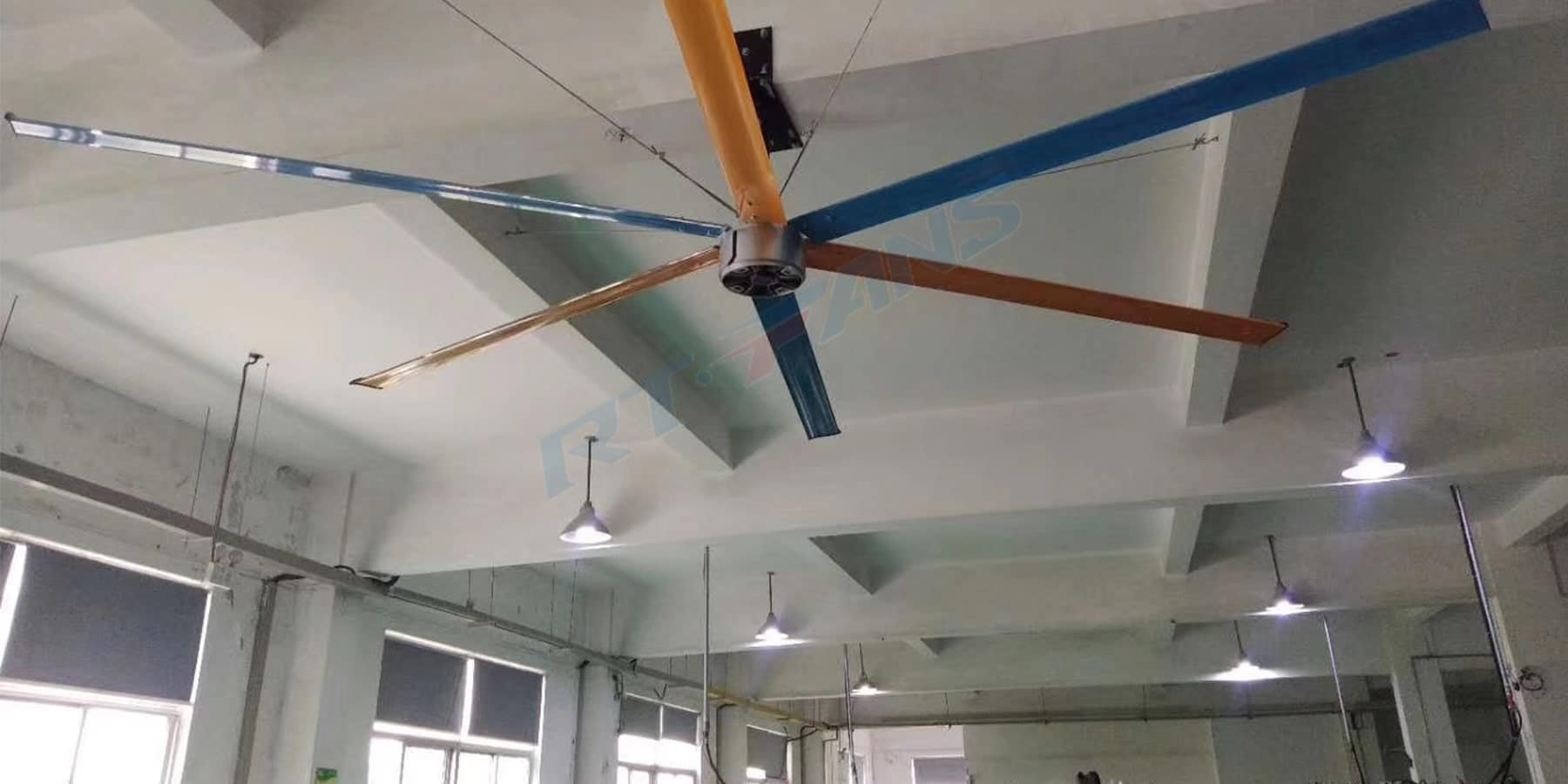 rtfans commercial ceiling fans for shopping mall case